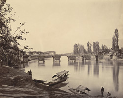 The First Bridge and the Raja's Palace, Srinagar